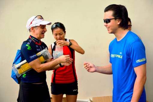 My Team won the race!  Haha!  That's one of my three Malaysian #BFFs, Michael, getting his award, a token wooden paddle.